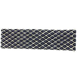 Stephen Webster 925 Sterling Silver Blue Gold Stone Superstud 5 Row Inlay Bracelet