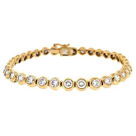 18K Yellow Gold 6.38ctw Diamond Bracelet