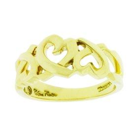 Tiffany & Co. Paloma Picasso 18K Yellow Gold Loving Heart Ring Size 6.25