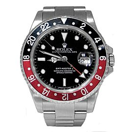 Rolex GMT-Master II 16710 Stainless Steel Coke Black/Red Bezel Automatic 40mm Mens Watch