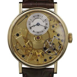 Breguet Tradition 7027 Yellow Gold Skeltonized Dial 37mm Mens Watch