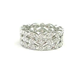 Tiffany & Co. Platinum Swing 1.40ct. Diamond Ring Size 4.5