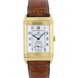 Jaeger LeCoultre Reverso 270.1.62 18K Yellow Gold & Leather 36mm Manual Mens Watch