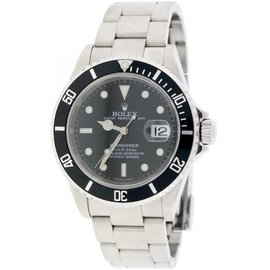 Rolex Submariner 16610 Stainless Steel Black Dial 40mm Mens Watch