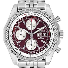 Breitling Bentley Motors GT Burgundy Dial Chronograph Watch A13362