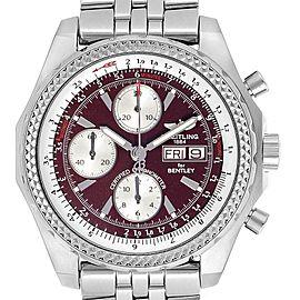 Breitling Bentley Motors GT Burgundy Dial Chronograph Watch A13362