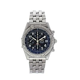 Breitling Blackbird A13350 Stainless Steel Black Dial Automatic 39mm Mens Watch