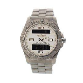 Breitling Aerospace E79362 Titanium White Dial Quartz 42mm Mens Watch