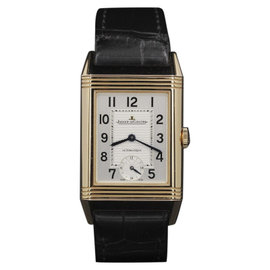 Jaeger LeCoultre Grand Reverso Q3802520 Rose Gold Silver Dial 46.8 mm Mens Watch