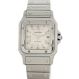 Cartier Santos Galbee 2319 Stainless Steel Silver Dial Automatic 29mm Unisex Watch