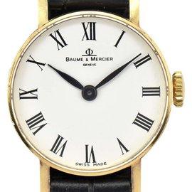 Baume & Mercier 36636 18K Yellow Gold Hand-Winding 21.5mm Womens Watch