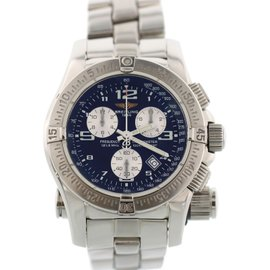 Breitling Emergency A73321 Stainless Steel Blue Dial Quartz 45mm Mens Watch