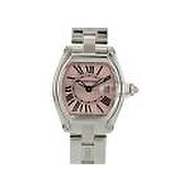 Cartier Roadster 2675 Pink Dial Stainless Steel 32mm Womens Watch