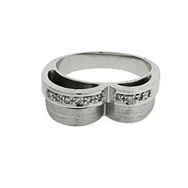 Zoccai 18K White Gold Diamond Ring Size 7