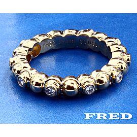 18K Yellow Gold Diamond Ring Size 5.75