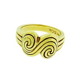 Tiffany & Co. 18K Yellow Gold Spiro Swirl Ring Size 6