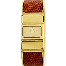 Hermes Loquet L01.201 Gold Tone Stainless Steel 19mm Womens Watch