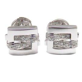 Boucheron 18K White Gold and Diamond Earrings