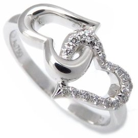 Piaget 18K White Gold with Diamond Heart Ring Size 5.75