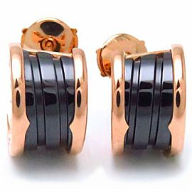 Bulgari B. Zero1 18K Rose Gold with Black Enamel Earrings