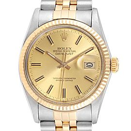 Rolex Datejust 36 Steel 18K Yellow Gold Mens Watch 16233
