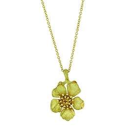 Tiffany & Co. Vintage 18K Yellow Gold Flower Necklace