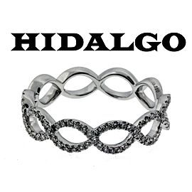 Hidalgo 18K White Gold Diamond Wedding Ring