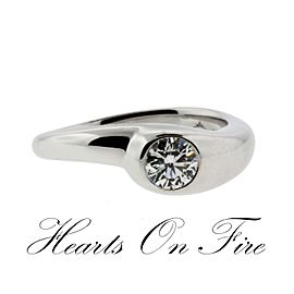 Hearts On Fire 18K White Gold Diamond Engagement Ring