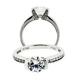 Ritani Platinum Diamond Engagement Ring
