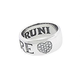 Pasquale Bruni 18K White Gold Diamond Ring Size 7