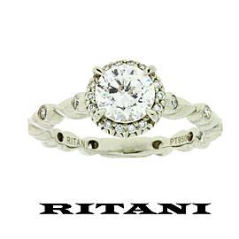 Ritani Platinum Diamond Engagement Ring Size 7