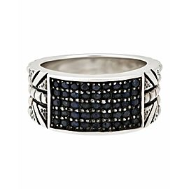 Stephen Webster 925 Sterling Silver with Blue Sapphire Ring Size 10
