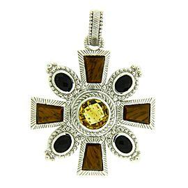 Judith Ripka Sterling Silver, Stainless Steel Citrine Womens Bracelet