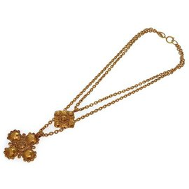 Chanel Gold Tone Hardware 2 Chain Necklace