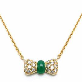 Van Cleef & Arpels 18K Yellow Gold Chalcedony Diamond Necklace