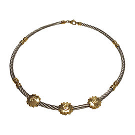 Philippe Charriol 925 Sterling Silver and Gold Necklace