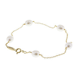 Tiffany & Co. Elsa Peretti 18K Yellow Gold with Cultured Pearl Bracelet