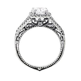 Verragio 18K White Gold Diamond Engagement Ring Size 6.25