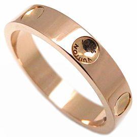 Louis Vuitton Empreinte 18K Rose Gold Ring Size 5.5