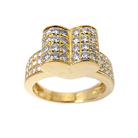 Van Cleef & Arpels 18K Yellow Gold with Diamond Ring Size 6.75