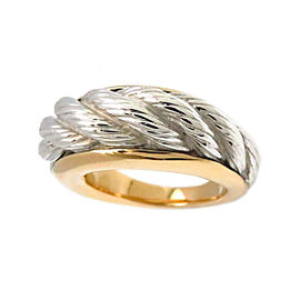 Van Cleef & Arpels 18K White and Yellow Gold Ring Size 6.75