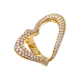 Piaget 18K Yellow Gold with Diamond Ring Size 7.75