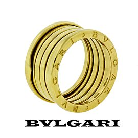 Bvlgari 18K Yellow Gold Ring Size 4