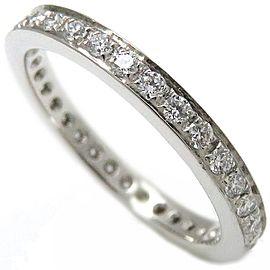 Bulgari 950 Platinum with Diamond Eternity Ring Size 4.75