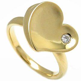 Mikimoto 18K Yellow Gold Diamond Ring Size 7.25