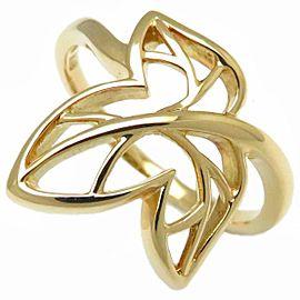 Mikimoto 18K Yellow Gold Diamond Ring Size 6