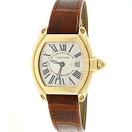 Cartier Roadster Small 18K Yellow Gold Sunray Roman Dial 32mm 2676 Box&Papers