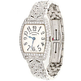 Franck Muller Cintree Curvex 18k White Gold Factory Diamond Box&Papers $43,500