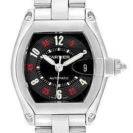 Cartier Roadster Vegas Roulette Red Green Mens Watch W62002V3 Box Papers
