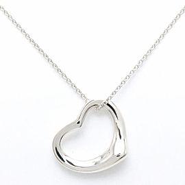 Tiffany & Co. Elsa Peretti 925 Sterling Silver Open Heart Necklace